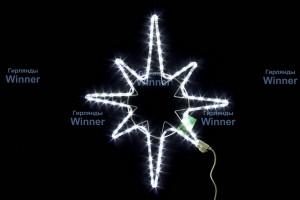 Звезда полярная WN LED дюралайт, 72см, белая, мерцающая, соед., IP 65 9901-72W