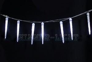 Сосульки имитация настоящей WN LED белый, 23см, стыкуется 09.T.20+