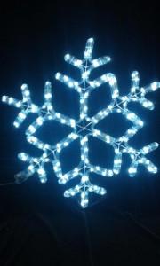 Снежинка ST LED дюралайт 56*56см, 32л., 6м, белый, с контроллером LSRM-7058-LEDW-C