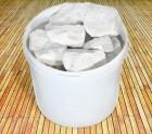 Камень КВАРЦИТ белый колотый в ведре 20кг