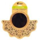 Спонж для лица очищающий 9*1,5 см с углем из бамбука