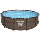 Бассейн каркасный BESTWAY Steel Pro Max 366х122см Ротанг 10250л, фил.-насос 2006л/ч, л 5617U