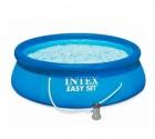 Бассейн надувной INTEX 396*84см Easy Set, С ФИЛЬТР-НАСОСОМ 2006 л/ч 28142