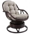 Кресло-качалка Kara с подушкой, цвет орех