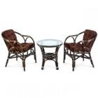 Комплект мебели Terrace Set (стол со стеклом 11/05-A+2 кресла) 11/05B