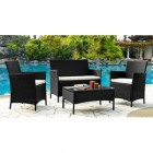 Комплект мебели Кофейный (стол+2 кресла+диван ) 210013А