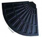 Подставка для установки и фиксации зонта БЛ база сегмент, темно-зеленая TJIB-R-080-20