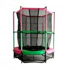 Батут DFC JUMP KIDS 55 дюймов-137 см, с сеткой, зеленый/розовый 55INCH-JD-GP