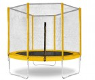 Батут Trampoline 8 диаметр 2,4 м, с защитной сеткой, желтый