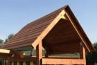 Деревянная крыша для башни Изео (замена тента), НЕ окрашенная