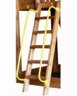Перила металлические на деревянную лестницу (из 2-х штук)
