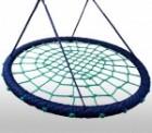 Качели-гнездо KBT Oval овальное 1*0,83 м черный/зеленый, веревка PP