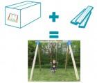 Комплект для сборки качели Лаго DIY- набор из коробки