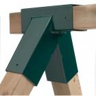 Уголок соединения бруса качелей KBT DIY- набор из коробки, сер. Smart Line, квадрат 90*90 мм,90-60 г