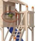 Кашпо деревянное для цветов Домик Бормио НЕ окрашенно