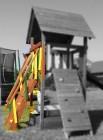 Лестница с плоскими ступенями и перилами для ДСК ИЗЕО, НЕ окрашенная