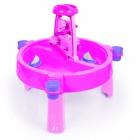 Стол игровой песок-вода DOLU 98*98*77 см, розовый 2570