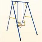 Детские качели Лидер-01 металлические, на подшипниках, сине/желтый