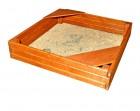 Деревянная песочница для дачи Росинка-Кубик