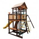 Деревянный детский игровой комплекс Perfetto Sport RIMINI кольца гимнастические с перекладиной