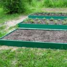 Грядка МЕГАДАЧА зеленая-полимерное покрытие, 1х4 м, H-20 см, толщ. мет. 0,6 мм