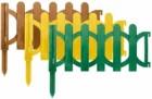 Забор декоративный 320*150 мм, 6 шт., пластиковый, желтый 77484