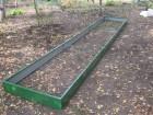 Грядка МЕГАДАЧА зеленая-полимерное покрытие, 1х5 м, H-20 см, толщ. мет. 0,6 мм