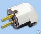 Евровилка штепсельная B16-01  250B  16A с з/к угловая белая