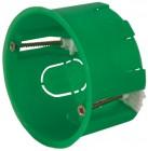Коробка монтажная установочная FIT 68*40мм, 6 выводов, круглая с металлическими лапками 84211