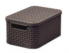 Короб с крышкой STYLE Box S темно-коричневый 03617-210-00/TK
