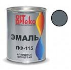 Эмаль серая ПФ-115 ВИТЕКО 0,8 кг (14)