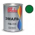 Эмаль ярко-зеленая ПФ-115 ВИТЕКО 0,8 кг (14)