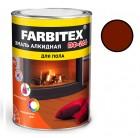 Эмаль ПФ-266 красно-коричневый FARBITEX 0,9 кг (14)