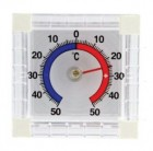 Термометр оконный FIT ТББ квадратный, биметаллический 67910
