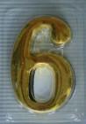 Цифры для обозначения номера квартиры металл, золото