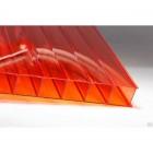 Сотовый поликарбонат толщина 6 мм, оранжевый, 6 мх2,1 м КС-Профпласт