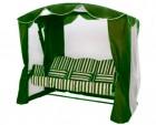 Садовые качели Arno-Werk  ОАЗИС ЛЮКС зеленый, 3-х местные, ф 51 мм, + АМС, +LED фонарик, до 300 кг
