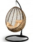 Кресло-кокон подвесное MALAGA коричневый+бежевая подушка, до 120 кг ЦН