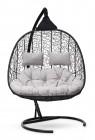Кресло-кокон подвесное SEVILLA TWIN черный+белая подушка, до 180 кг ЦН