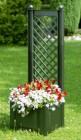 Ящик для растений Лекс с шпалерой 43см, зеленый, маленький 37203 (17-З)