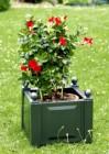 Ящик для растений Лекс квадратный, зеленый 38003 (17-З)