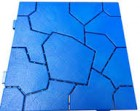 Садовая плитка ПВХ ПЛиКо КАМЕНЬ Ярко-синий 50*50*2,5см, в упаковке 8шт./2кв.м  МП2608