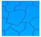 Садовая плитка ПВХ ПЛиКо КАМЕНЬ Голубой 50*50*2,5см, в упаковке 8шт./2кв.м  МП2608