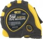 Рулетка FIT 7,5м*25мм, калиброванная лента, желто-черный прорезин. корпус, тройной стопор 17247