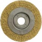 Корщетка-колесо FIT 125мм, желтая 39065