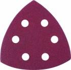 Треугольник абразивный MATRIX 93мм, P240 на ворсовой подложке под липучку 73866