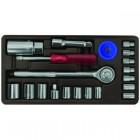 Набор слесарно-монтажного инструмента FIT 3/8'мм, 21шт. 65021