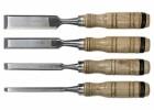 Набор долото-стамеска SPARTA 6-12-18-24 мм, плоские, деревянные рукоятки 242405