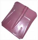Лопата снеговая стальная порошковая окраска 355*380мм совковая с накладкой, без черенка СТ-5 1201060