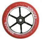 Набор колес и подшипников TECH TEAM TT 125 мм PU, красный TT 0193